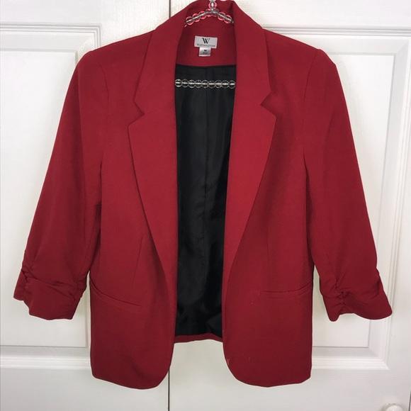 [Worthington] Red Blazer